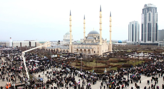 Grozny sau khi được Liên bang Nga xây dựng lại.
