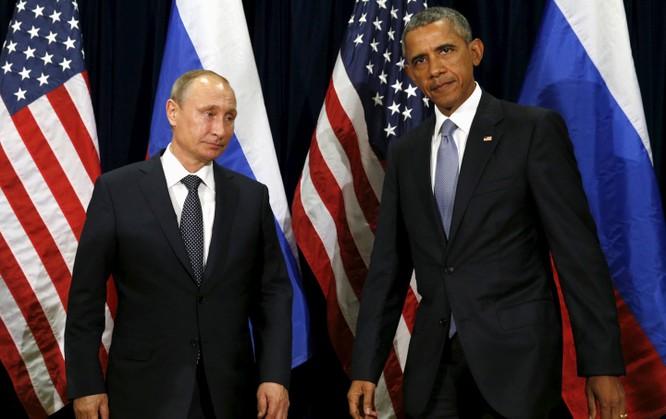 Tổng thống Nga Putin và tổng thống Mỹ Barack Obama tại Cuộc họp Đại hội đồng Liên Hợp Quốc tại New York vào 28.9.2015, hai ngày trước khi Nga can thiệp vào tình hình Syria.