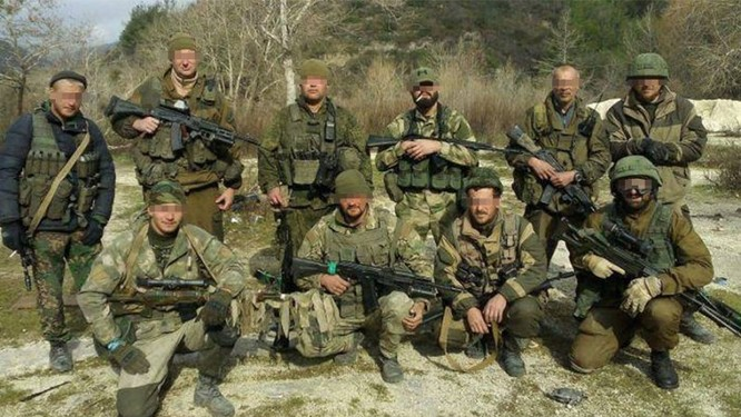 Lính của nhà thầu quân sự Wagner tại Syria.