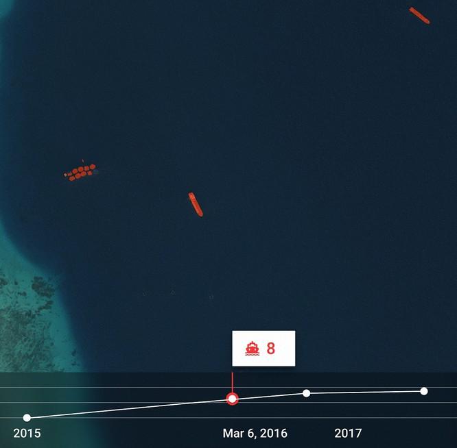 """Choáng vì đảo nhân tạo phi pháp Trung Quốc """"lớn nhanh như thổi"""" trên Biển Đông ảnh 5"""