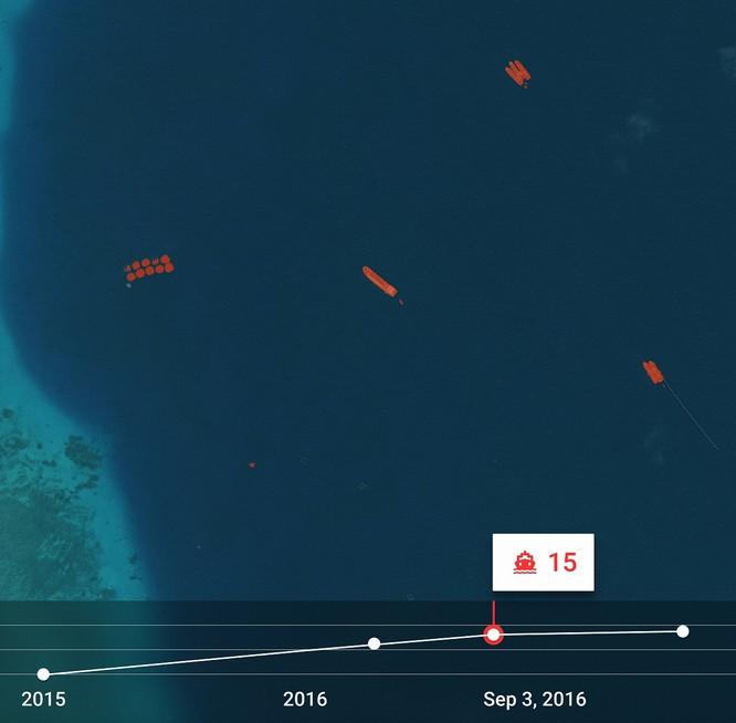 """Choáng vì đảo nhân tạo phi pháp Trung Quốc """"lớn nhanh như thổi"""" trên Biển Đông ảnh 6"""