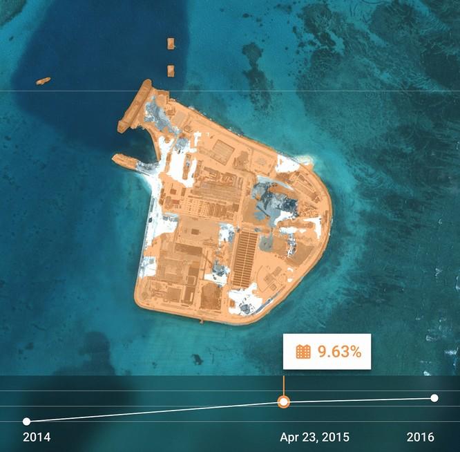 """Choáng vì đảo nhân tạo phi pháp Trung Quốc """"lớn nhanh như thổi"""" trên Biển Đông ảnh 14"""
