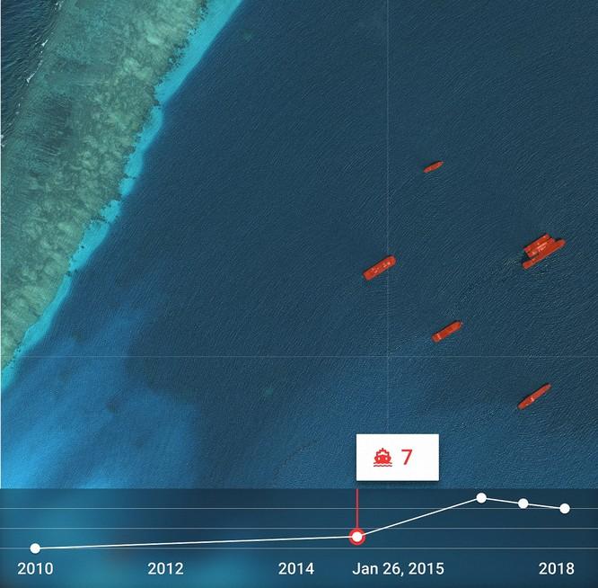 """Choáng vì đảo nhân tạo phi pháp Trung Quốc """"lớn nhanh như thổi"""" trên Biển Đông ảnh 9"""