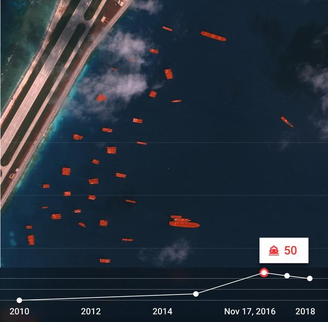 """Choáng vì đảo nhân tạo phi pháp Trung Quốc """"lớn nhanh như thổi"""" trên Biển Đông ảnh 10"""