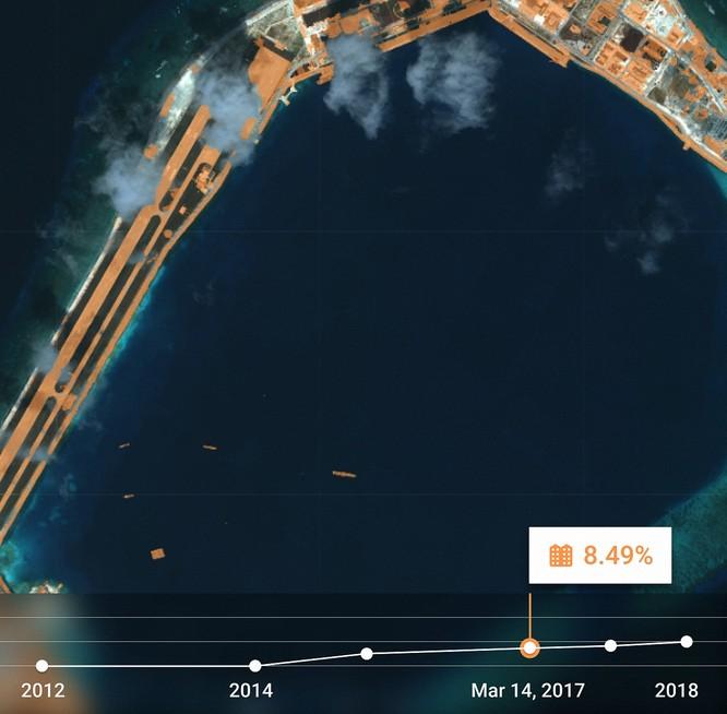 """Choáng vì đảo nhân tạo phi pháp Trung Quốc """"lớn nhanh như thổi"""" trên Biển Đông ảnh 12"""
