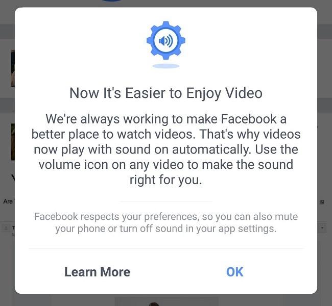 Cách tắt âm thanh video tự động trong Facebook ảnh 1