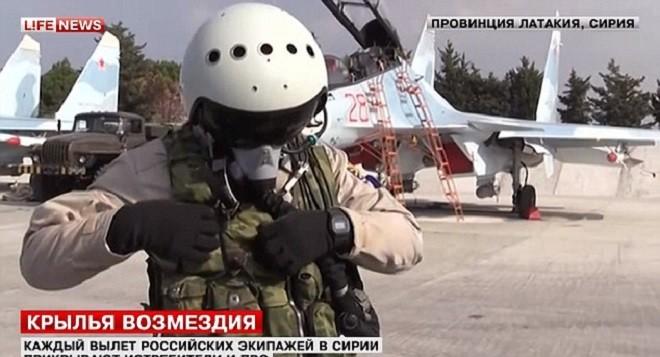 Phi công và máy bay chiến đấu Nga ở Syria (ảnh tư liệu minh hoạ)