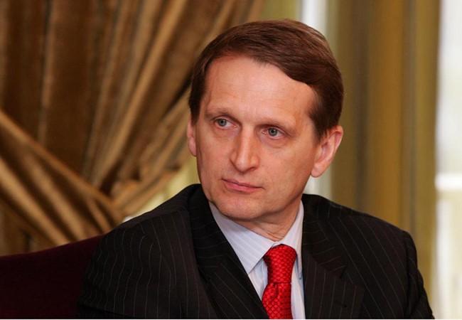 Chủ tịch Duma Nga Sergei Naryshki