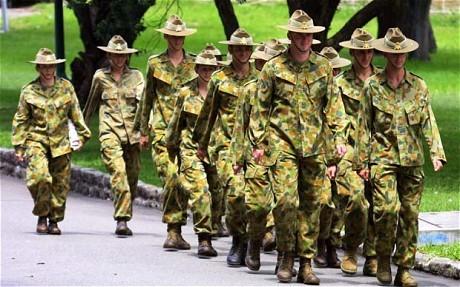 Quân đội Australia.