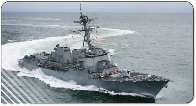 Khu hạm USS William P. Lawrence của Hải quân Mỹ.
