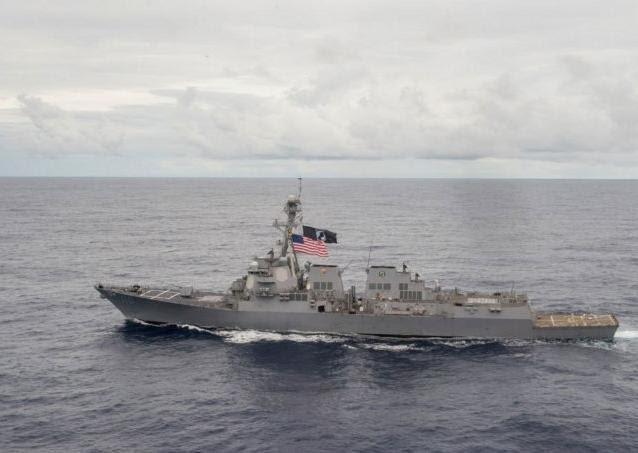 Tàu khu trục USS William P. Lawrence Hải quân Mỹ. Nguồn ảnh: Rappler.com.