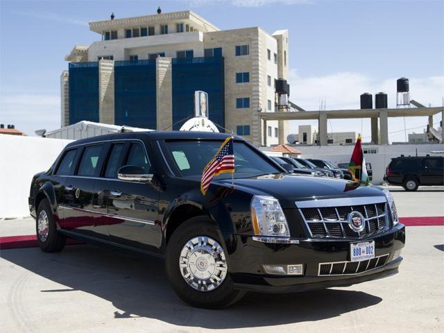 Xe bọc thép chở Tổng thống cơ động trên các quãng đường ngắn.