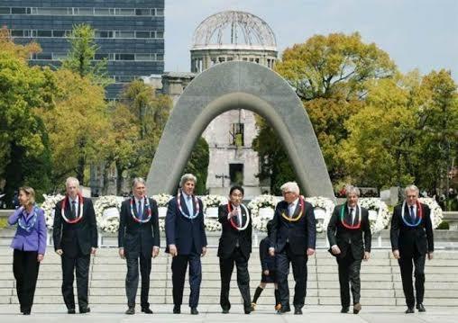 Trong thời gian tổ chức Hội nghị Ngoại trưởng G7 từ ngày 10 đến ngày 11/4/2016, Ngoại trưởng các nước G7 đã đến thăm Công viên kỷ niệm hòa bình Hiroshima.