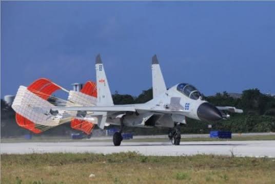 Trung Quốc triển khai bất hợp pháp máy bay chiến đấu J-11B ở đảo Phú Lâm, quần đảo Hoàng Sa, Việt Nam.