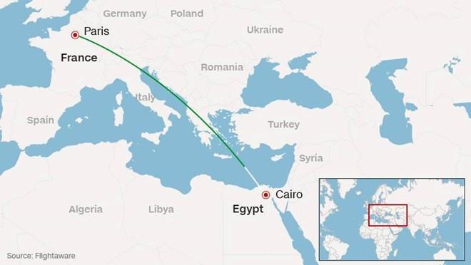 Đường bay dự định của chiếc máy bay mất tích.