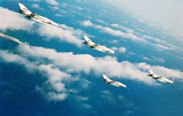 Máy bay chiến đấu J-7 Trung Quốc. Nguồn ảnh: Thời báo Hoàn Cầu, Trung Quốc