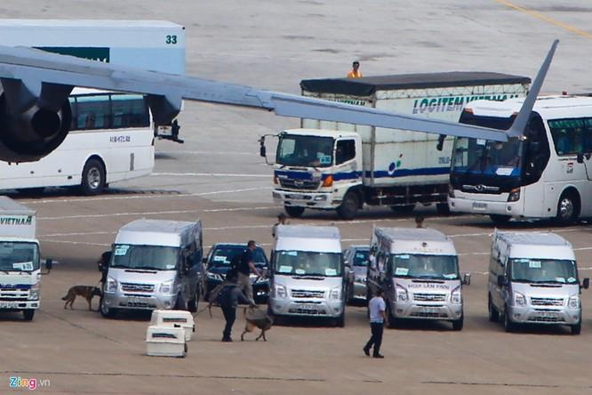 Sáng 22/5, những chú chó nghiệp vụ của Mỹ đã xuất hiện tại sân bay Tân Sơn Nhất, TP HCM.