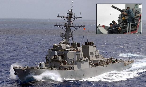 Ngày 30/1/2016, tàu khu trục USS Curtis Wilbur tiến hành tuần tra vùng biển 12 hải lý gần đảo Tri Tôn thuộc quần đảo Hoàng Sa của Việt Nam. Nguồn ảnh: Internet