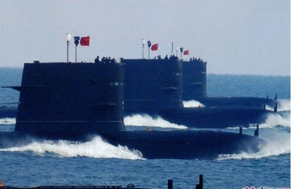 Tàu ngầm hạt nhân chiến lược Type 094 Trung Quốc.