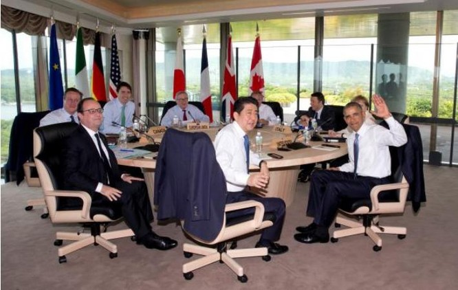 Các nhà lãnh đạo G7.