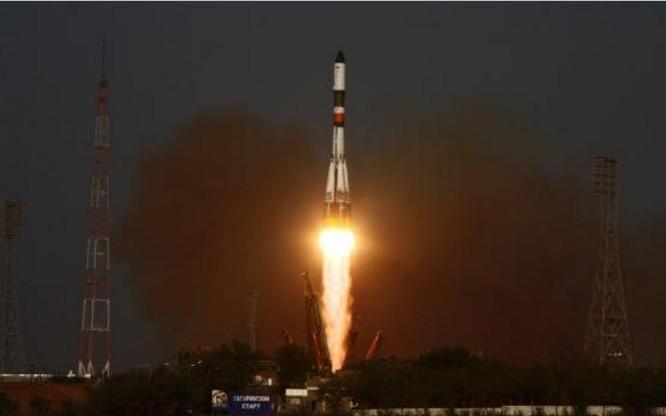 Tên lửa đẩy Soyuz phóng một vệ tinh EKS. Nguồn ảnh: Tin tức Bành Bái, Trung Quốc.