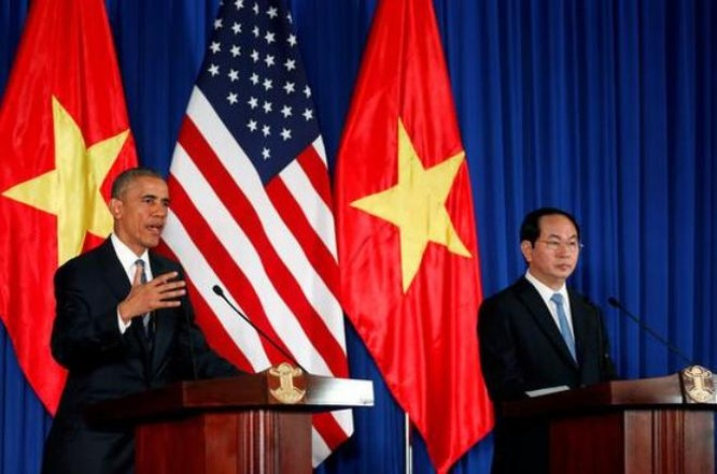 Tổng thống Mỹ Barack Obama vừa có chuyến thăm 3 ngày đối với Việt Nam. Nguồn ảnh: Tân Hoa xã