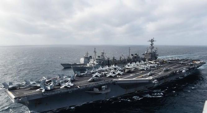 Tàu sân bay động cơ hạt nhân USS John C Stennis, Hải quân Mỹ trên Biển Đông. Nguồn ảnh: Thời báo Hoàn Cầu, Trung Quốc.