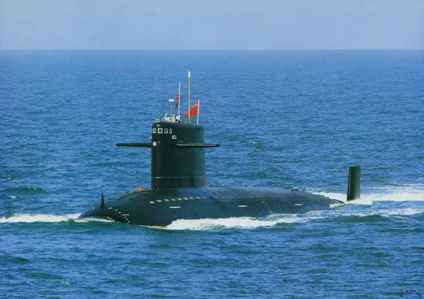 Tàu ngầm hạt nhân tấn công Trung Quốc. Nguồn ảnh: Thời báo Hoàn Cầu, Trung Quốc.