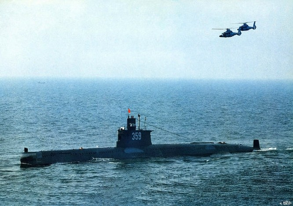 Tàu ngầm lớp Minh Type 035 Trung Quốc. Nguồn ảnh: Thời báo Hoàn Cầu, Trung Quốc.