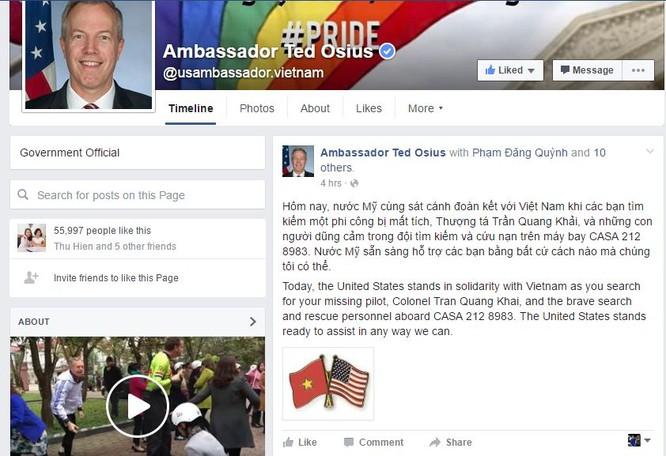 Chia sẻ của Ted Osius trên mạng xã hội Facebook.