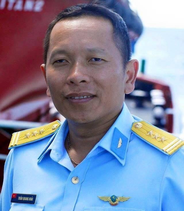 Chân dung Thượng tá Trần Quang Khải, phó trung đoàn trưởng kiêm tham mưu trưởng trung đoàn 923, sư đoàn 371 Không quân Việt Nam.