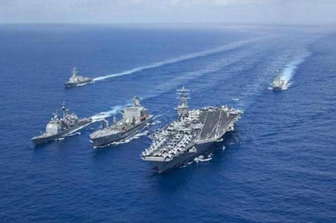 Hải quân Mỹ tuần tra Biển Đông. Nguồn ảnh: Internet