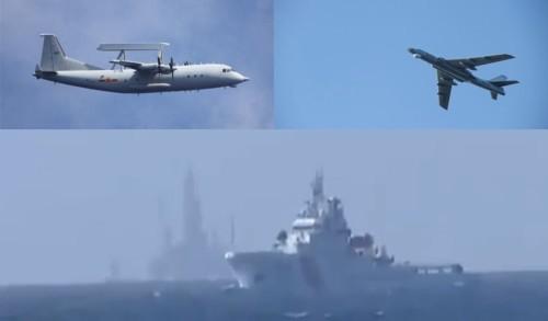 Các lực lượng quân sự, hải cảnh Trung Quốc xâm phạm vùng biển Việt Nam hồi tháng 5/2014.