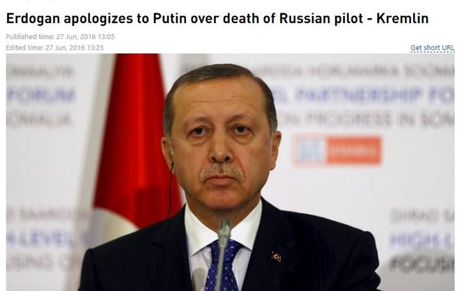 Bản tin trích dẫn thông báo từ Điện Kremlin của RT.