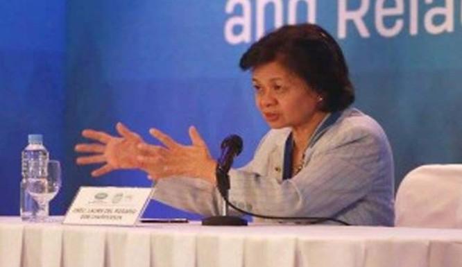 Thứ trưởng Bộ Ngoại giao Philippines Laura del Rosari. Ảnh: Brudirect.com