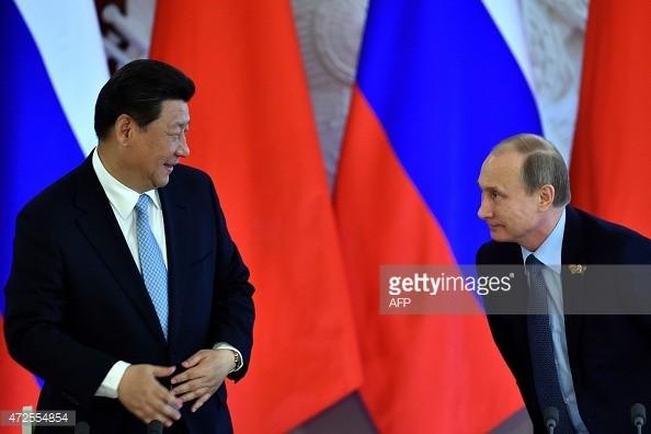 Lãnh đạo Trung - Nga (ảnh: GI).