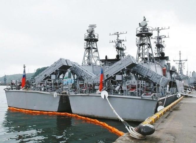 Tàu tuần tra lớp Cẩm Giang, Hải quân Đài Loan trang bị tên lửa chống hạm. Ảnh: Người quan sát, Trung Quốc.