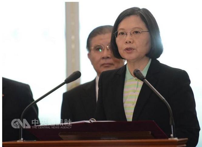 Tân Tổng thống Đài Loan, bà Thái Anh Văn. Ảnh: CNA, Đài Loan.