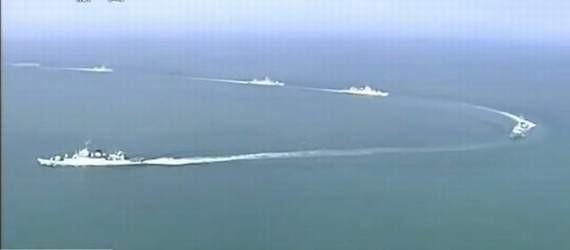 Tháng 5/2013, ba hạm đội lớn của Hải quân Trung Quốc tổ chức tập trận quy mô lớn ở Biển Đông. Ảnh tư liệu.