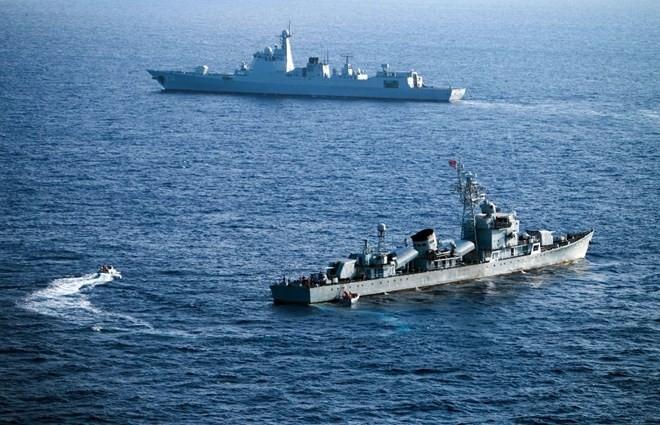 Trung Quốc tiến hành tập trận tại Biển Đông tháng 5/2016 (Nguồn: AFP)