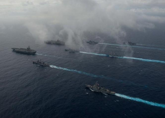 Hai cụm tấn công tàu sân bay Mỹ trên Biển Đông (Ảnh tư liệu).