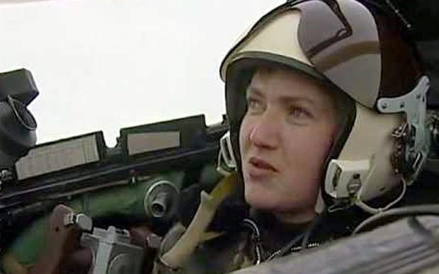 Cựu quân nhân, phi công Ucraine Nadezhda Savchenko.