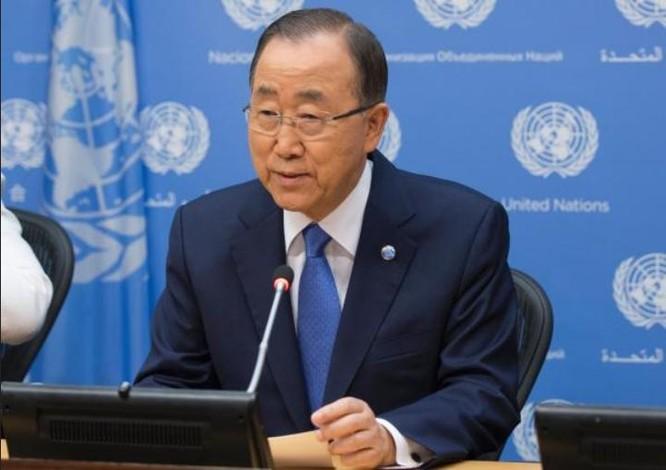 Tổng thư ký Liên hợp quốc Ban Ki-moon. Ảnh: Bành Bái, Trung Quốc.