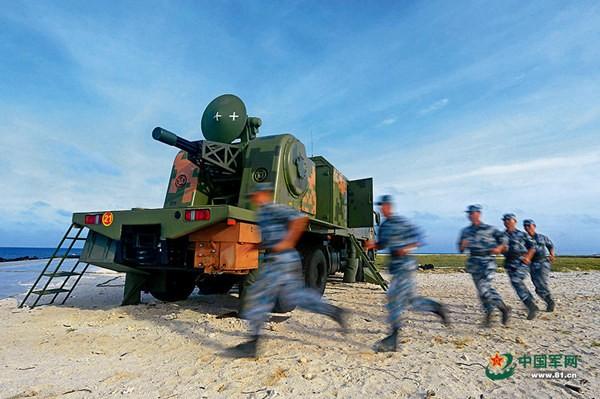 Trung Quốc triển khai bất hợp pháp hệ thống tên lửa phòng không tầm xa HQ-9 trên Biển Đông (quần đảo Hoàng Sa, Việt Nam). Ảnh: Thời báo Hoàn Cầu, Trung Quốc.