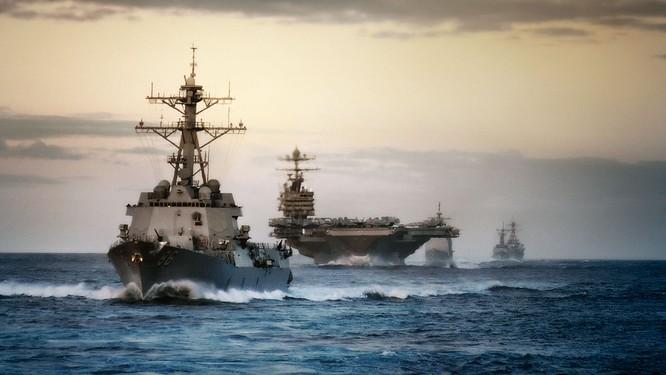 Hải quân Mỹ đang có 2 tàu sân bay tại khu vực Biển Đông.