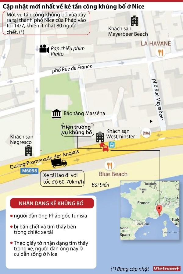 Ảnh đồ họa mô tả thời gian, địa điểm xảy ra vụ tấn công (ảnh Vietnamplus).