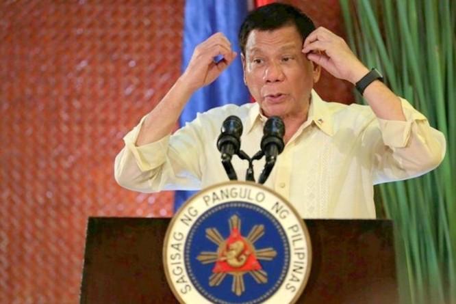 Tổng thống Philippines, Rodrigo Duterte. Ảnh: Báo Phượng Hoàng, Hồng Kông.