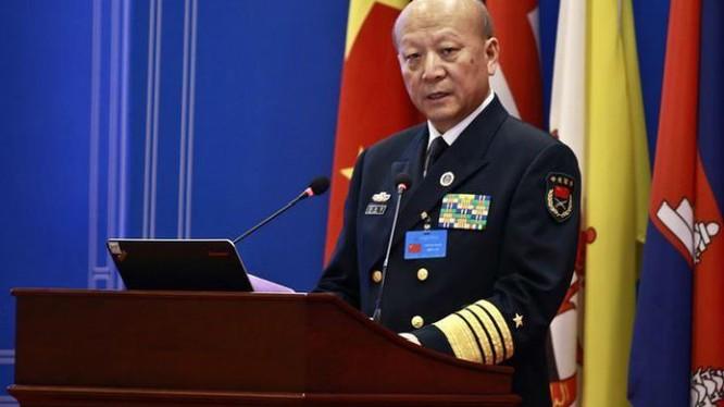 Tư lệnh Hải quân Trung Quốc, Đô đốc Ngô Thắng Lợi. Ảnh: Reuters