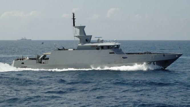 Tàu Clurit phóng tên lửa C-705 thất bại. Ảnh: Hải quân Indonesia