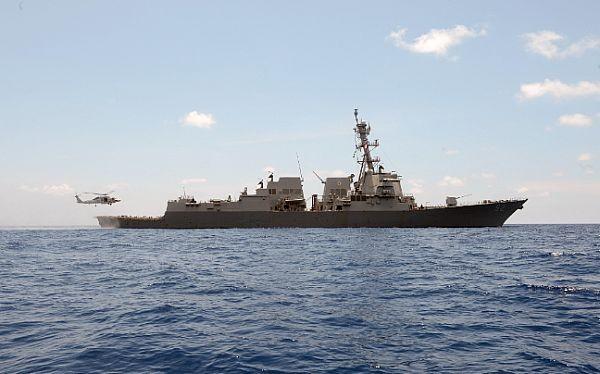 Tàu khu trục tên wlar USS Momsen (DDG 92) của Mỹ hoạt động trên Biển Đông gần đây. Ảnh: US Navy.